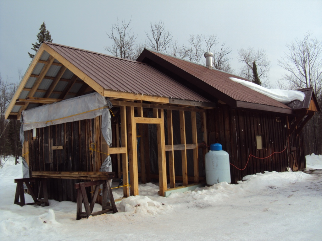 January thaw new garage addition roof lake superior spirit for Roof addition
