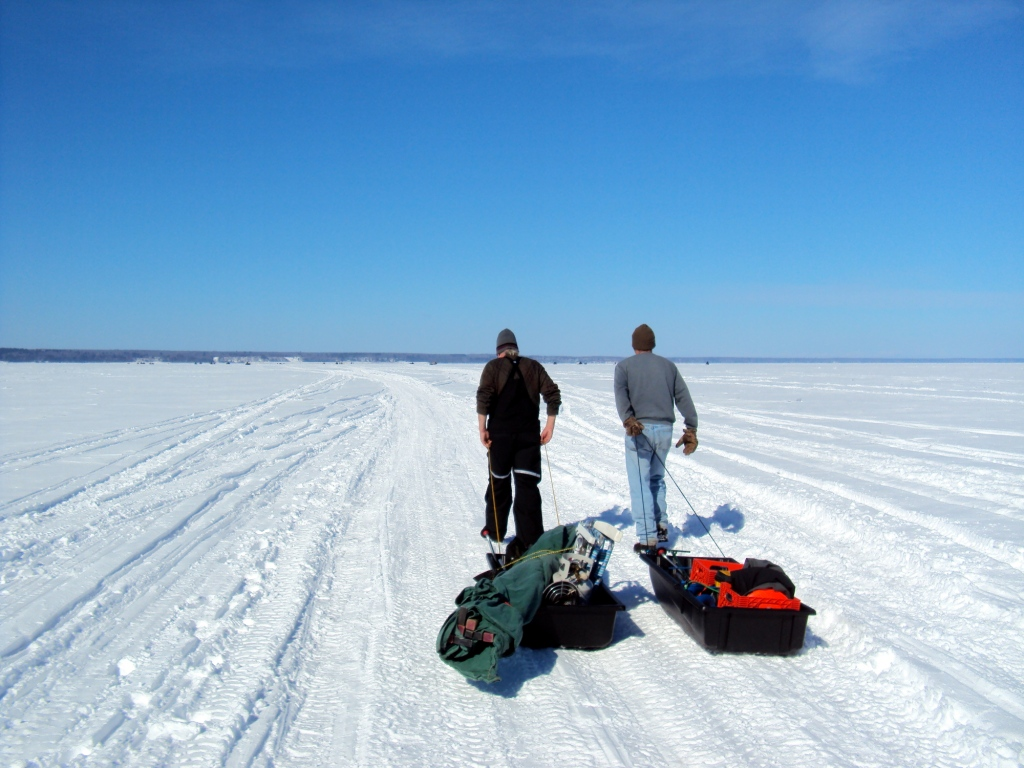 How to catch a zillion fish while ice fishing not lake for Lake superior ice fishing