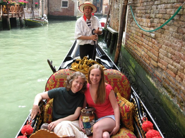 Gondola Heaven--me & my daughter, 2007