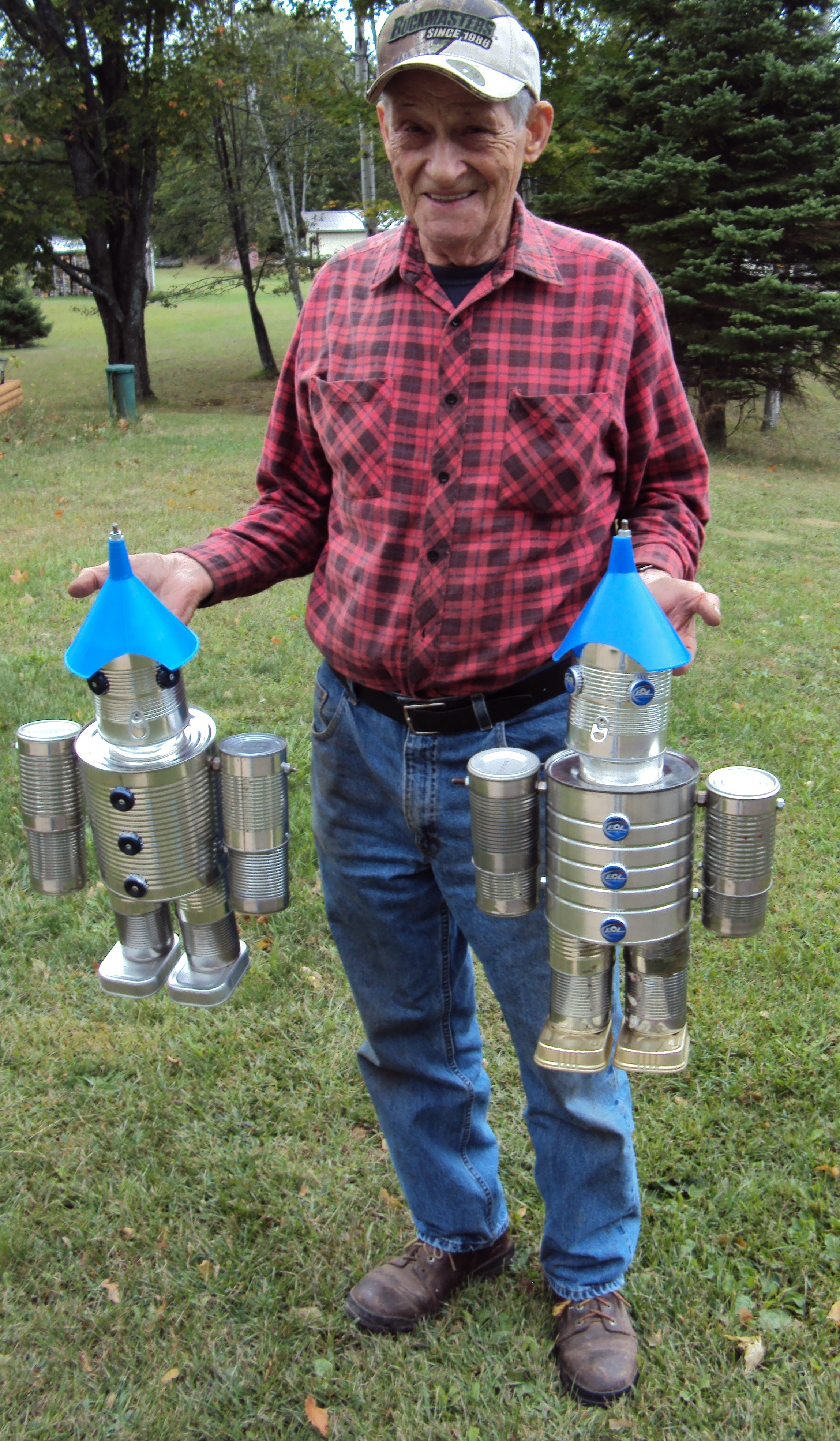 You have to eat sardines like crazy to get enough feet for How to make a tin man out of cans