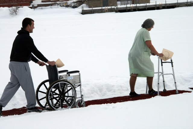Looks like even the elderly are heading out to jump!