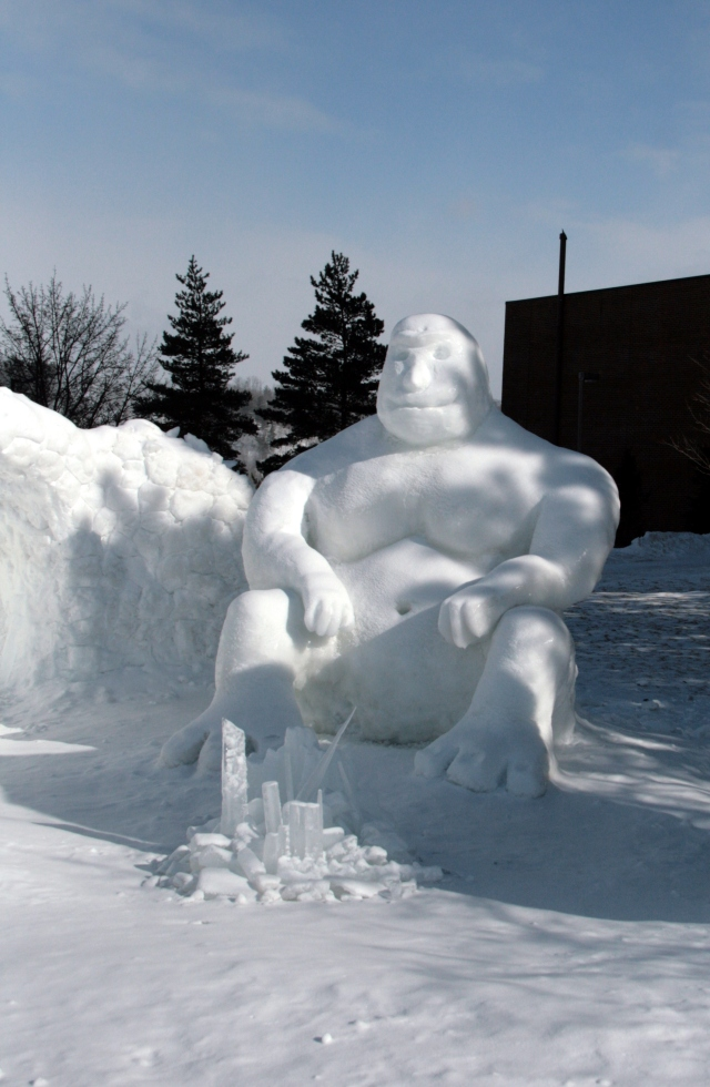 Enjoy these sculptures of ice as you sit in your warm house