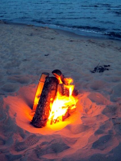 Lake Superior campfire