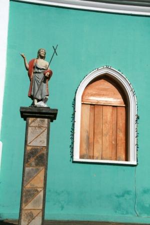 Jesus, pedestal, window