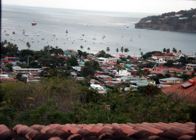 Overlooking San Juan del Sur from our casa