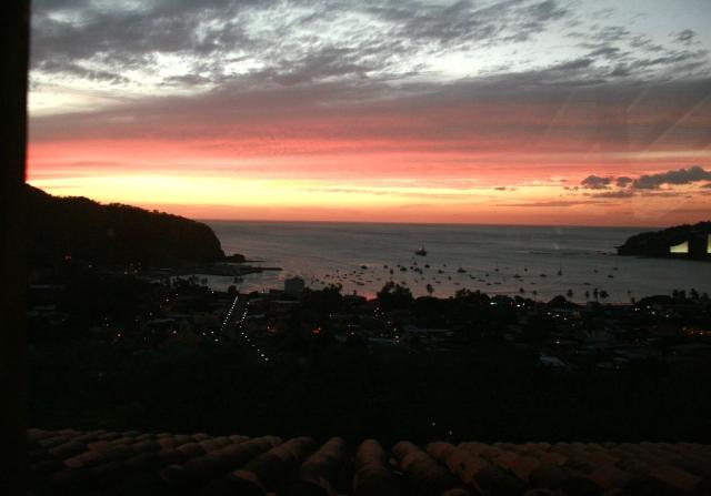 Sunset through the casa window in Nicaragua.