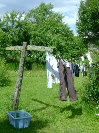 Our clean laundry on the line