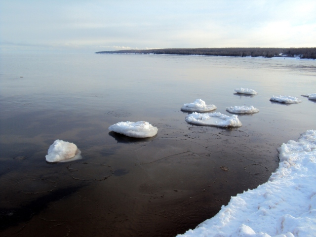 Ice forming on the bay (2010)