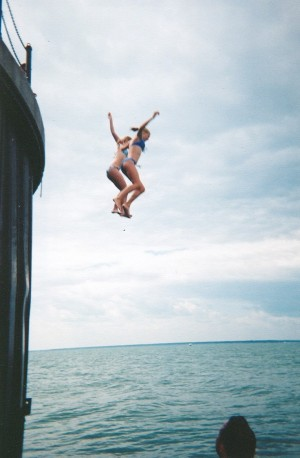 "We asked her, ""If someone jumped off a cliff into the lake, would you jump, too?"""