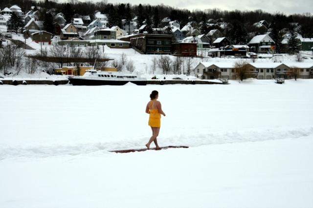 Some people don't seem to mind the cold.  Some people even jump in the frozen lake in January.