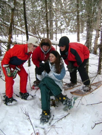 Back when our Book Club once went snowshoeing...