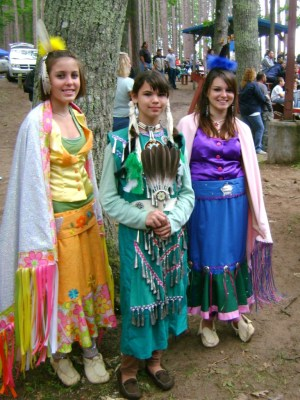 Girls at Pow Wow