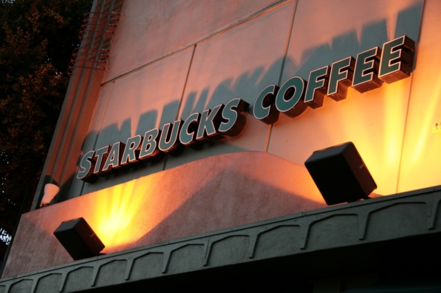 Starbucks.  OK, not THIS Starbucks.  Can't you feel the caffeine buzz?