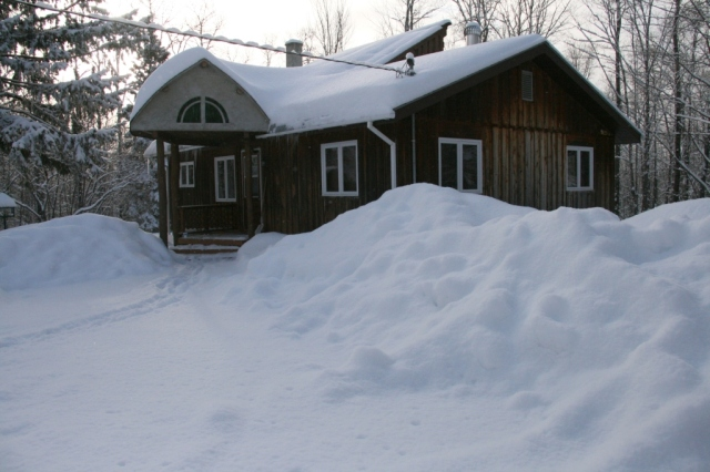 Note the snowbanks around the house.  Imagine when they'll be gone.  Are you thinking May?