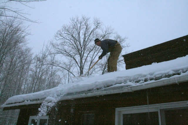 Some roofs are collapsing from snow overload.  It's time to shovel the roof...