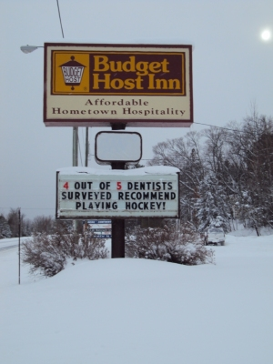 Not the motel where we're staying.  But I liked this sign!