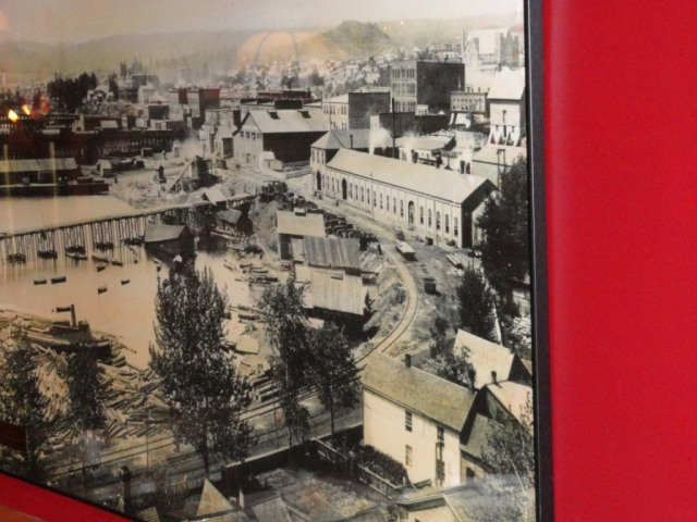 Even though this old-time picture of Marquette is not colorful, please notice the red along the edge.  Very colorful!