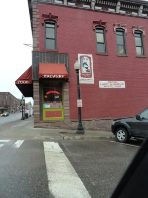 Here is the outside of the Vierling Restaurant in Marquette. It's a lovely red brick building  Very inviting.