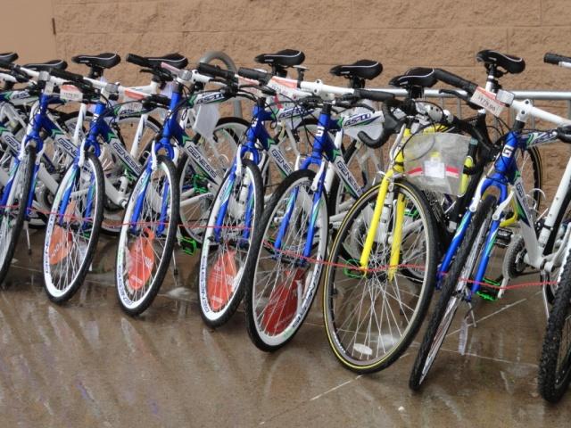 Blue bikes at WalMart