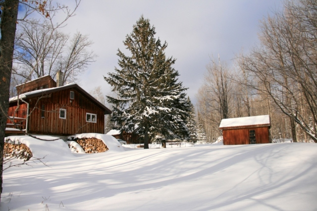January, 2012.  Our Little House in the Big Woods.