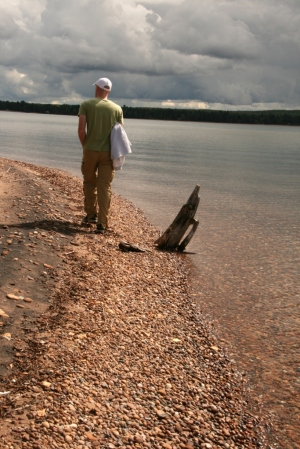 September, 2012. Our son, Chris, comes to visit and we hike along Lake Superior's shorel