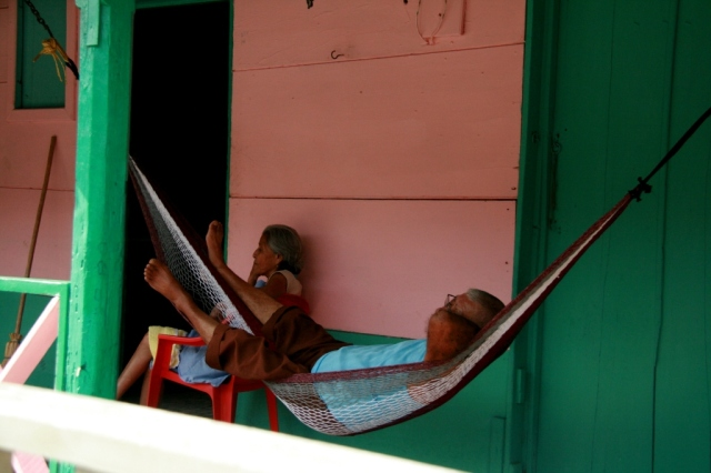 February, 2012.  A quiet moment in Nicaragua. (Our nephew married there--an amazing trip to San Juan del Sur.)