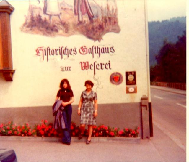 My Swiss mom and Suzanne in the Black Forest
