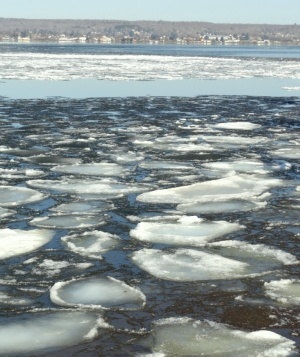 One can stare mesmerized for a long time at the patterned ice shapes