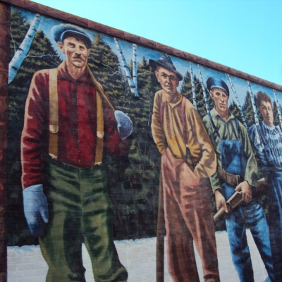 Old-timers who grew roots.  (From a mural in Ashland, Wisconsin.)