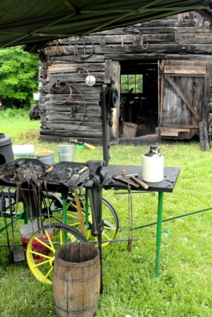 The blacksmith shop.