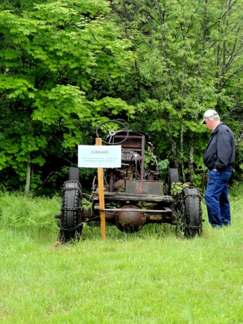 "The old-timers made a tractor--also called a ""joker""--out of this old car.  Resourceful, weren't they?"