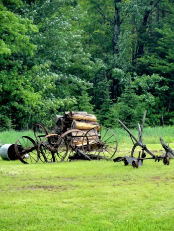 Farming implements.
