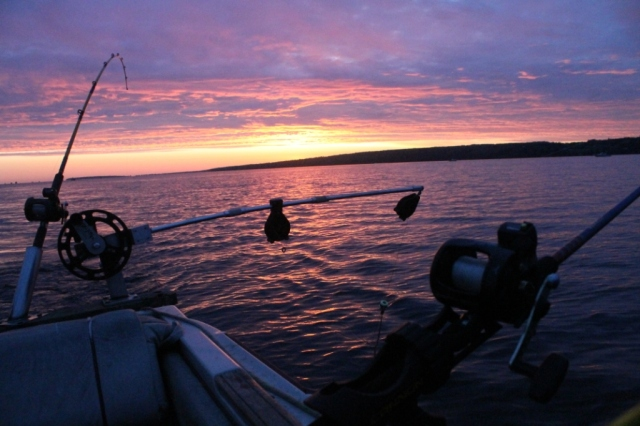 Sunrise, Keweenaw Bay, Lake Trout Fishing Festival last weekend