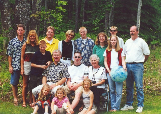 Your family back in 2000 at Christopher's graduation party.