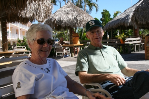 Another precious moment at the Outrigger in Florida.  Who's buying our orange juice or coffee this time?