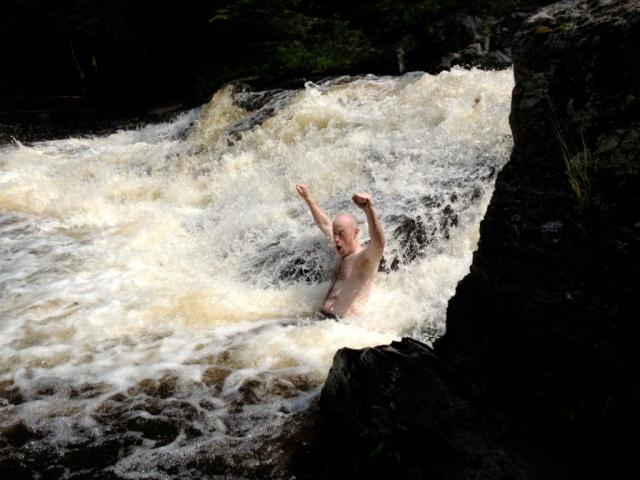 River exultation!  Can you imagine how cold that must have felt?