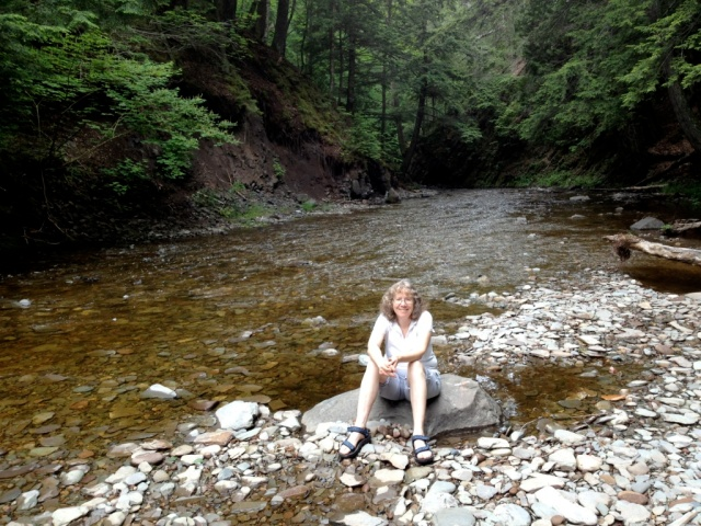 Your blogger by the Slate River Falls