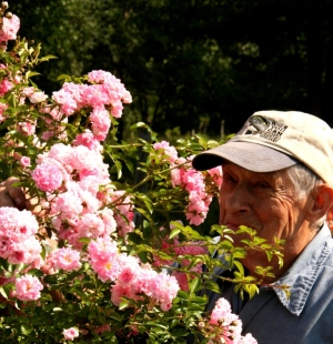 Howard pauses to smell the roses