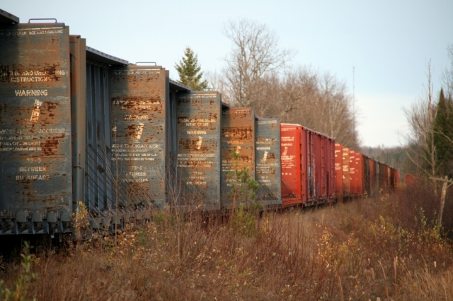 One train boxcar, two train boxcars...