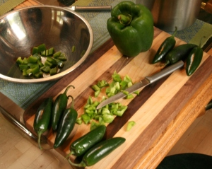 Chop your peppers, please.