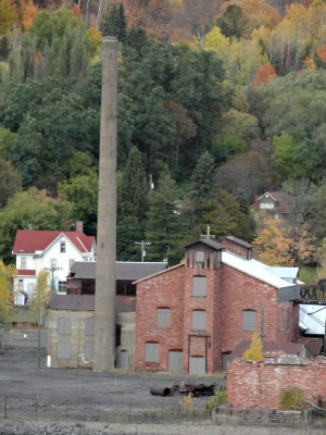 Keweenaw National Historic Park buildings across the canal in Hancock