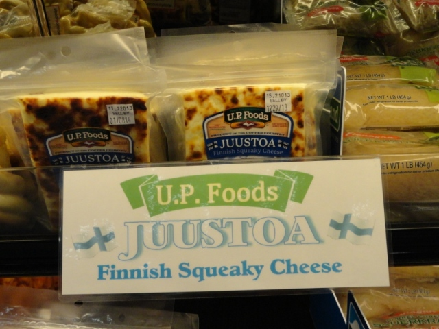 Anyone heard of Finnish Squeaky cheese?  Don't ask me--I don't eat it.