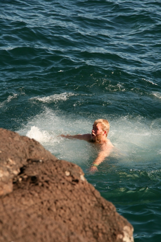 Swimming in Lake Superior in October; can you imagine?