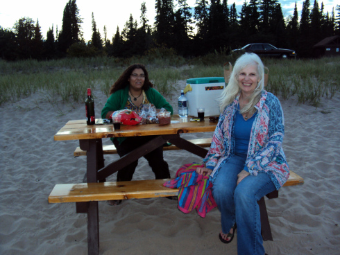 Susie Q and her daughter on our camping trip