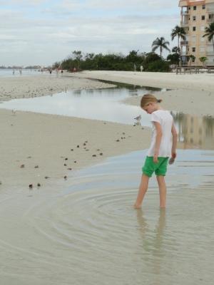 Tidal pool wading