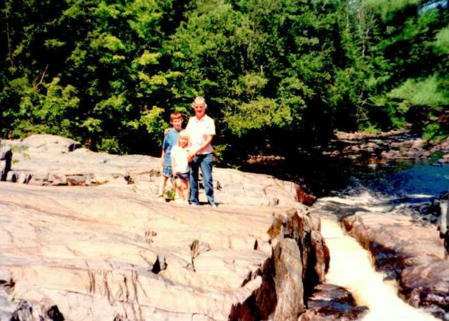Mom and my kids hiking here in the U.P.  in 1990