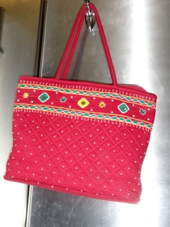 My purse (a gift from an Indian friend.)  Just because...
