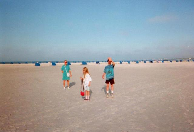 My kids and Mom in Fort Myers Beach, Florida, in 1994, soon after they bought the condo.