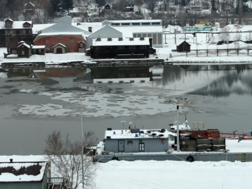 The beginnings of ice on the Portage Canal
