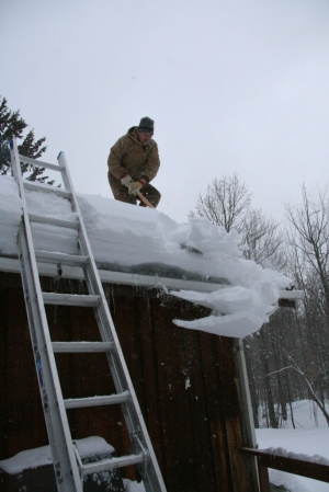 "Roof shoveling ""fun"""